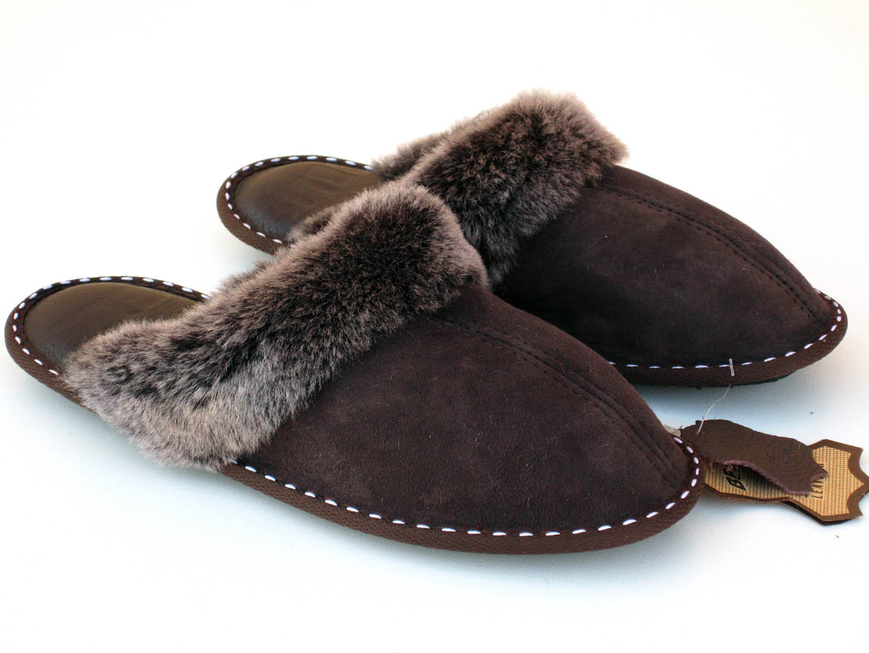 Stylish sheepskin slippers