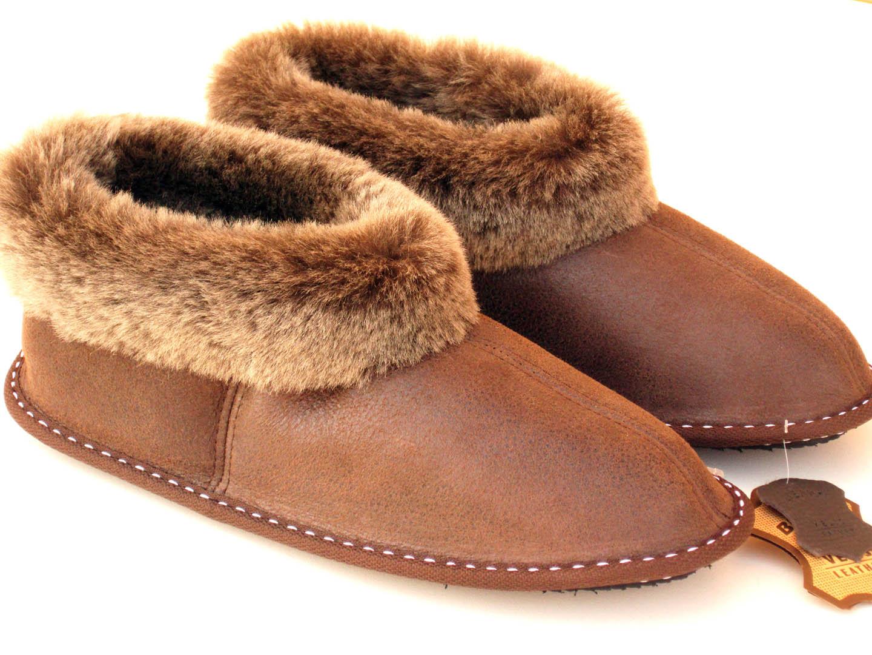 Sheepskin booties