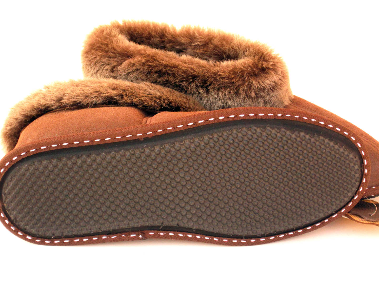 Sheepskin Slippers Brown Quot Krek Quot Velis Leather