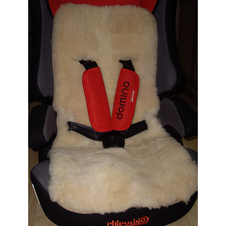 Подложка за детска количка и столче за кола - бяло