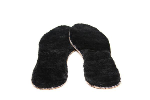 Стелки за обувки от естествена кожа – черно