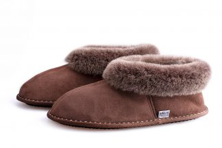Men's sheepskin booties