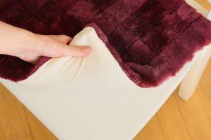 Възглавница за стол от естествена кожа - вишнаво