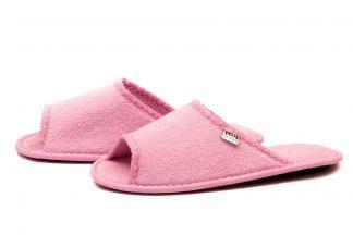 Дамски домашни чехли от полар - розово