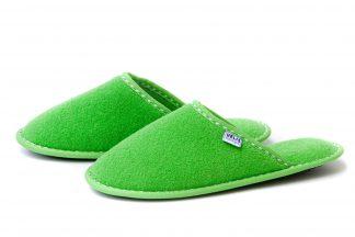 Дамски домашни чехли от полар - зелено