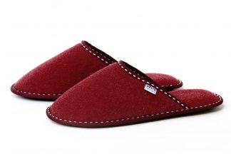 Дамски домашни чехли от полар - бордо