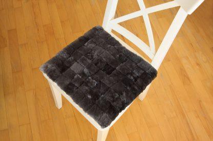 Възглавница за стол от естествена кожа - капучино