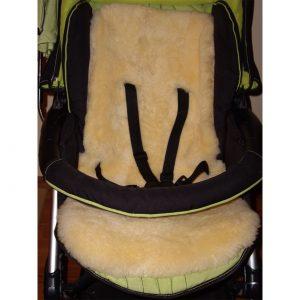 Подложка за детска количка и столче за кола - жълто