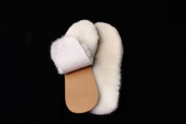 Стелки за обувки от естествена кожа - бяло
