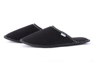 Дамски домашни чехли от полар - черно