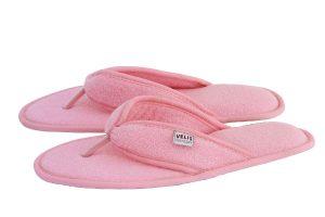 Дамски домашни джапанки от полар - розово
