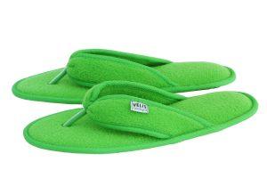 Дамски домашни джапанки от полар - зелено